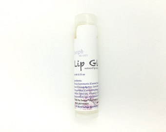Lip Balm, lip gloss, natural and soothing beeswax lip salve, smooth texture (GLOSSY LIP BALM)