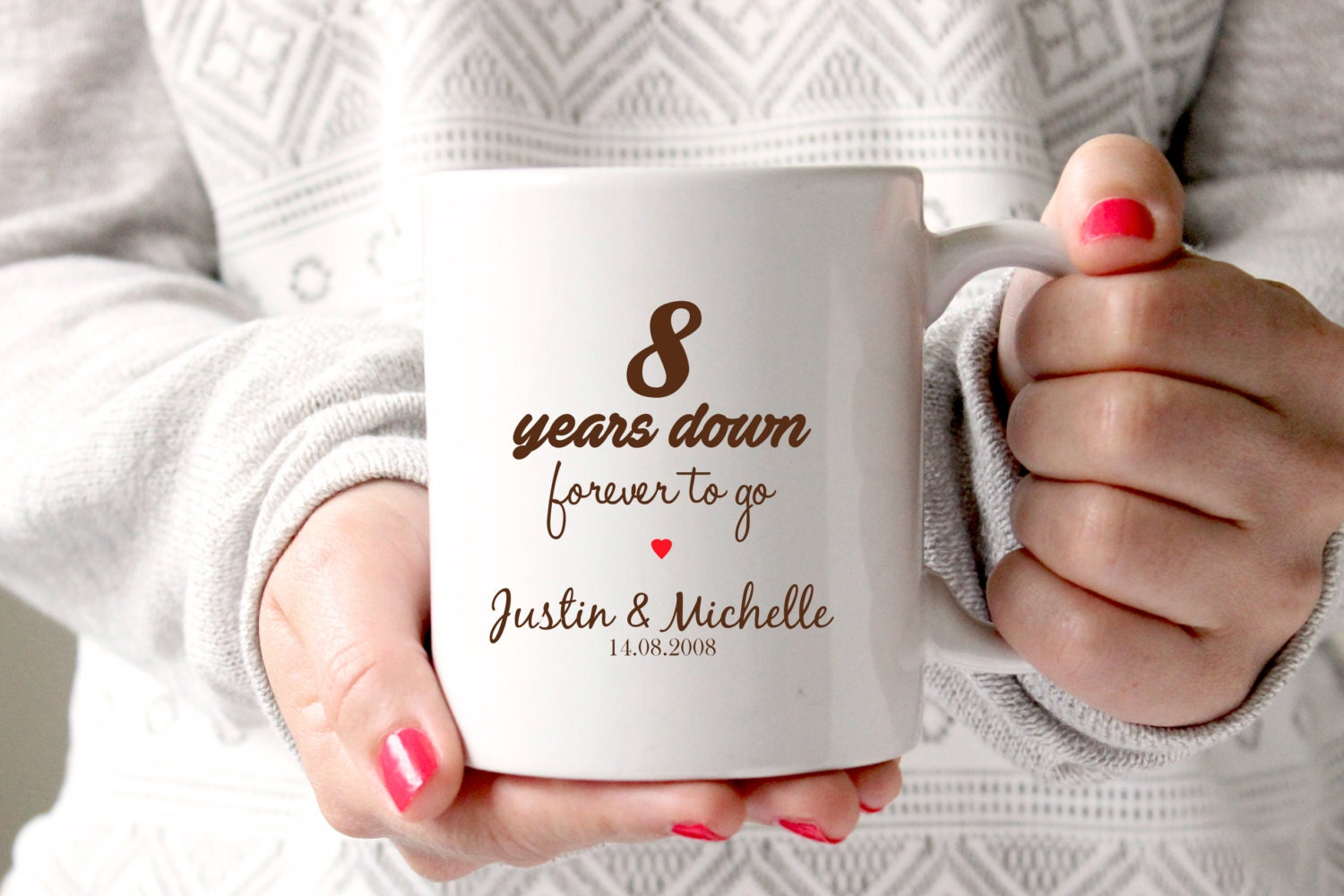 8th Wedding Anniversary Traditional Gift: 8th Anniversary Gift 8th Wedding Anniversary 8th