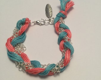Bracelet braided silver