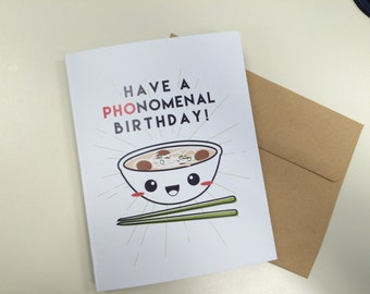 Have a PHOnomenal Birthday! - Size A2 Greeting Card
