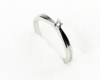 white gold diamond ring 0,03ct