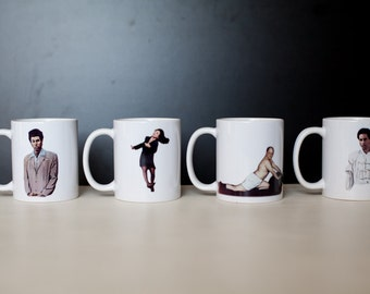 Set of Four Seinfeld Characters Mugs