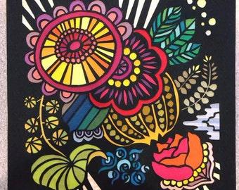 Handmade papercut art