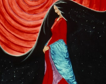 """Giclee Print Fine Art Paper Native American Print Surreal Print Metaphysical Print """"Pregnant With The Future"""""""