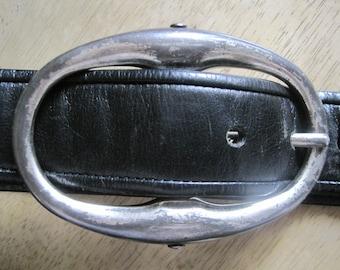Vintage Yves Saint Laurent Black Leather Belt ITALY