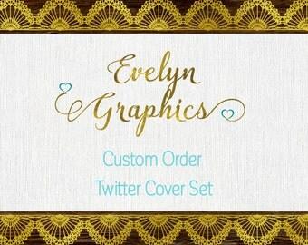 Custom Twitter Cover Set,Twitter Banner,Social Media Banner,Twitter Timeline Cover and Profile Picture,Social Media Header,Twitter design