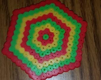hexagonal coaster