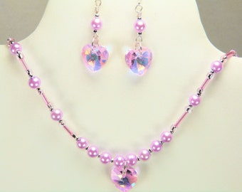 Necklace Set Pinks