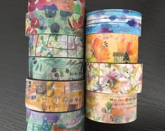 "24"" SAMPLES of Fion stewart & Chamil washi tape (M16)"