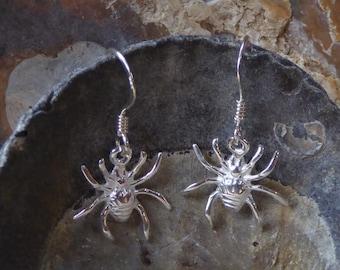 Spider Earrings 925 UK sterling Silver