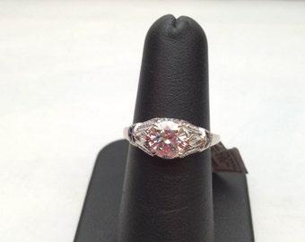Sapphire and Diamond engagement ring 1.00ct SI-1 diamond