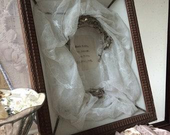 Bridal wreath silver antique bridal display antique 3 d