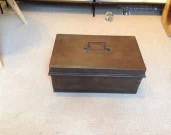 Old deed / cash box rustic look
