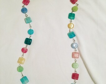 Candy inspired beaded necklace, 13""
