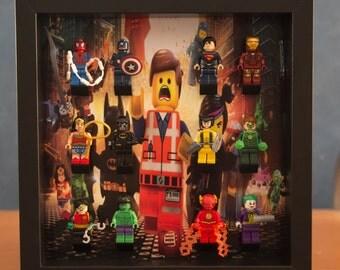 Lego movie mini-fig display frame