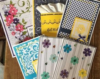 Greeting cards, set of 6 various