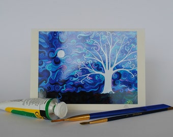 Full Moon Tree of Life (10) Card, Greeting cards for any occasion