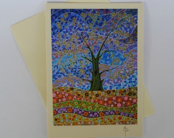 Tree of Life 16 greeting card, any occasion cards, blank inside