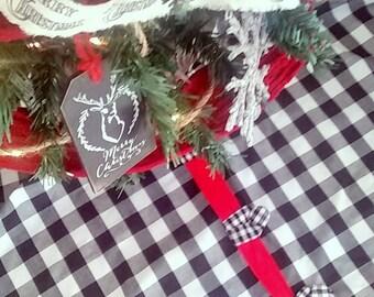 Buffalo Check Christmas Tree Skirt