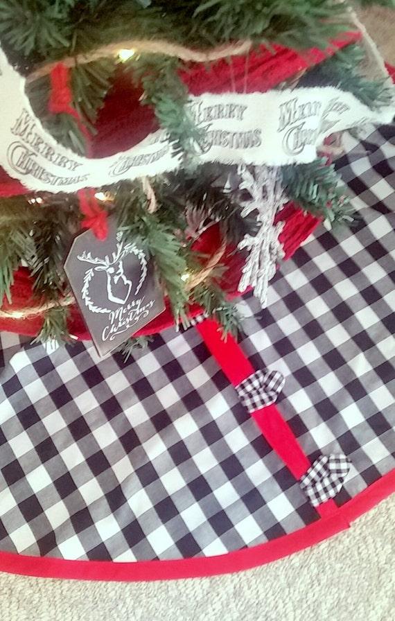Buffalo Check Christmas Tree Skirt Select Your Size
