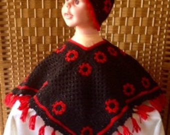 Child Poncho and Hat