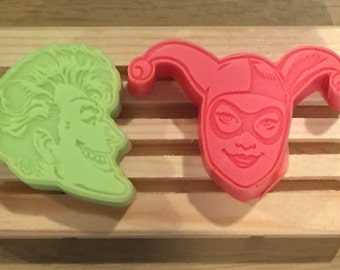 Handmade Joker and Harley Quinn Soaps
