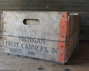 Michigan Fruit Canners wooden crate