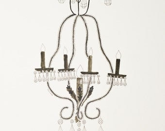 Chandelier Watercolor Painting 8 x 10 Print