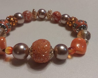 Item #031 Rich Orange Bracelet