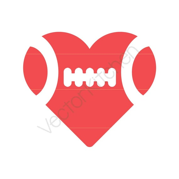 football heart clipart - photo #10