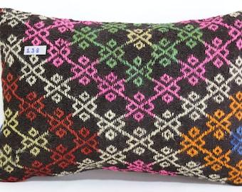 lumbar kilim pillow 16x24 vintage turkish kilim pillow lumbar decorative pillow home decor throw pillow ethnic pillow cover SP4060-138