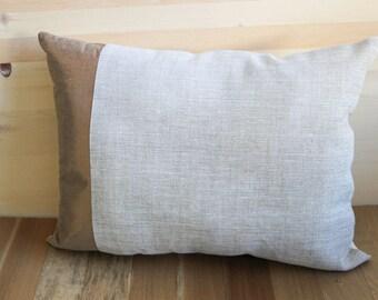 Bronze and Linen Throw Pillow
