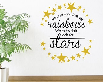 When It Rains Look For Rainbows Wall Decal