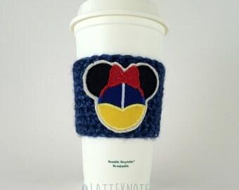 Princess Snow White Coffee Cup Cozy / Crochet Coffee Sleeve / Reusable Cozie / Customizable