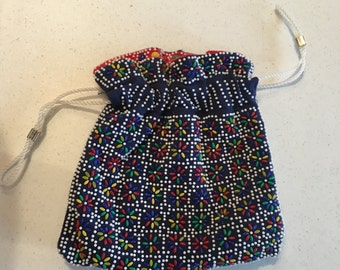 Vintage Beaded Purse, reversable
