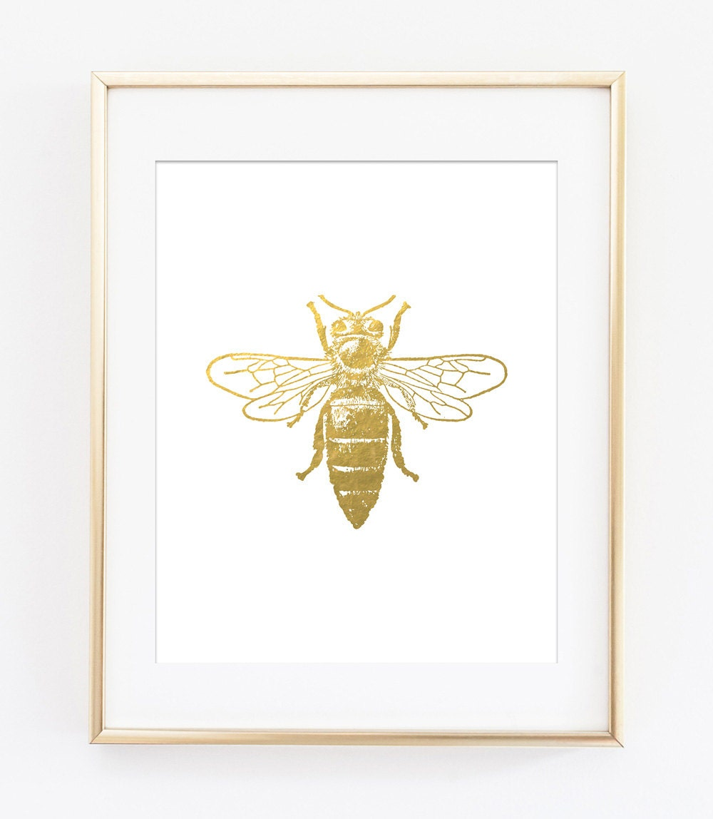 bee printables bee print gold bee printable gold bee gold zoom