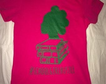 SGH Ladies Classic Tee (pink & green)