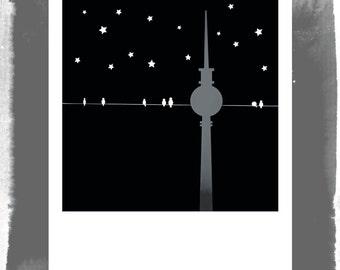 Polaroid postcard - Berlin by night