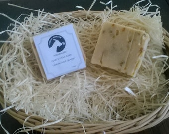 Goats Milk Soap - Lemon and Ginger
