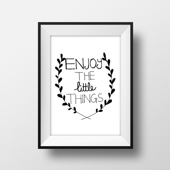 Items similar to Wall Art Little things Quote Printable