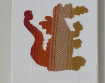 """Wrap Scrap Art - Girasol Small Stripe Boy or Girl - Girasol Wrap Scrap - Dragon, 5x7"""""""