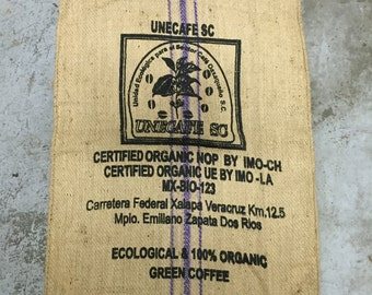 Burlap Coffee Bag, Mexico, with logo (36x30)
