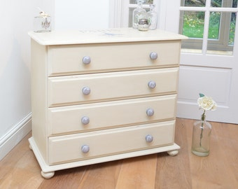 Shabby Chic Vintage French Inspired Chest Of Drawers