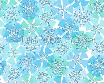 Snowflake Dot Winter Pattern