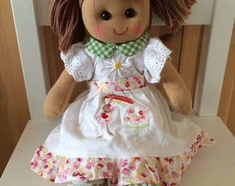 Rag doll, rabbit dress.