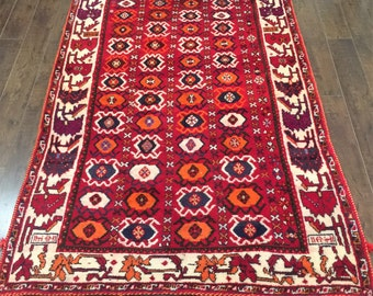 Colourful Persian Rug, 3'11 x 6'