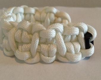 white cabby paracord bracelet