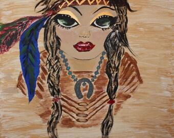 Green Eyed Native Girl