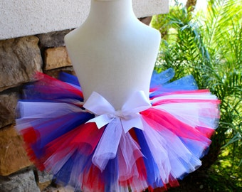 Red White and Blue Tutu, 4th of July Tutu, American Flag Tutu, Patriotic Tutu, Superhero Tutu, Girl Tutu, Toddler Tutu