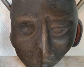 Vintage Afican Mask Sculpture
